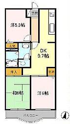 東京都立川市砂川町6丁目の賃貸マンションの間取り