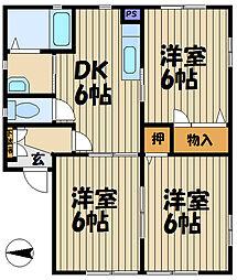 K-3[201号室]の間取り