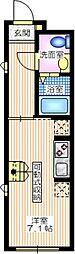 JR東海道本線 横浜駅 徒歩7分の賃貸アパート 1階ワンルームの間取り
