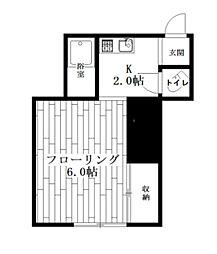 あみわコーポ[1階]の間取り