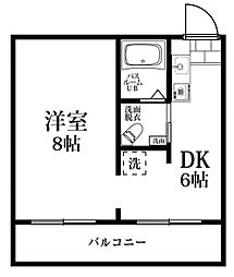 タワーズ諸岡[202号室]の間取り