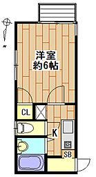 池田アパートII[2階]の間取り