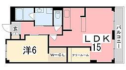 NSハイツ[1階]の間取り