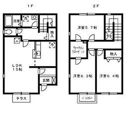 [テラスハウス] 神奈川県厚木市愛甲4丁目 の賃貸【/】の間取り
