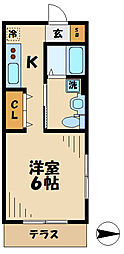 ハウス司[1階]の間取り