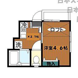 神奈川県横浜市西区西前町3丁目の賃貸アパートの間取り