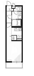 リブリ・サンセリテII 2階1Kの間取り