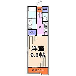 埼玉県さいたま市桜区田島2丁目の賃貸マンションの間取り