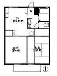 第2サンコーポ[1階]の間取り