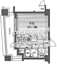 東京都千代田区西神田2丁目の賃貸マンションの間取り