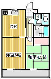 ロイヤルコーポ高井戸[1階]の間取り