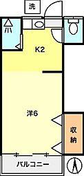 メゾン富士[205号室]の間取り