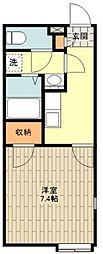 JR五日市線 秋川駅 徒歩21分の賃貸アパート 3階1Kの間取り