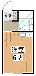 東京都東村山市久米川町5の賃貸マンションの間取り