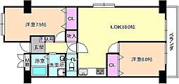 ドムール中宮[3階]の間取り