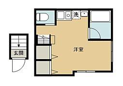 Cozy Coat Ogawa 2階ワンルームの間取り