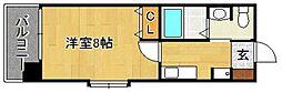 サンロージュ箱崎駅前[701号室]の間取り
