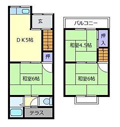 [テラスハウス] 大阪府松原市河合3丁目 の賃貸【/】の間取り
