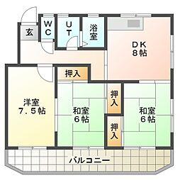 甲子ハイツ[2階]の間取り