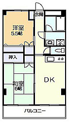 神奈川県川崎市多摩区栗谷3丁目の賃貸マンションの間取り