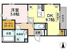 JR南武線 矢向駅 徒歩17分の賃貸アパート 1階1DKの間取り
