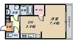 シャルムコート[1階]の間取り