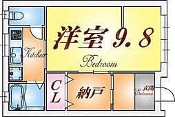 [一戸建] 兵庫県神戸市長田区腕塚町8丁目 の賃貸【兵庫県 / 神戸市長田区】の間取り