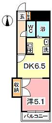 KM大元駅前[403号室]の間取り