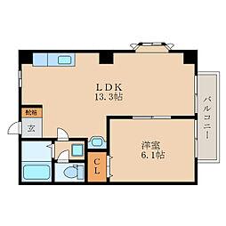 滋賀県野洲市大畑の賃貸アパートの間取り
