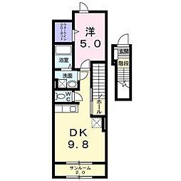 レゴリスA[2階]の間取り