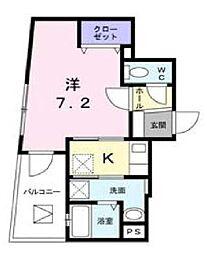 サマー ウィン Toho 4階1LDKの間取り