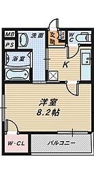 サンシーブル 三国ケ丘[1階]の間取り