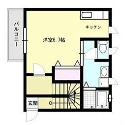 ウィステリアK[2階]の間取り