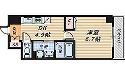 Grandir三国ヶ丘[3階]の間取り