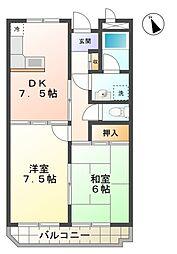 三陽ビル[4階]の間取り