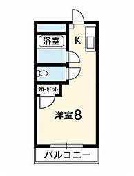 タイムマンション[2階]の間取り