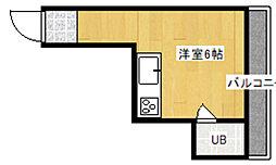 清水丘マンション[2A号室]の間取り