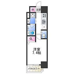 FDS PLACZ SHIN-OSAKA 10階1Kの間取り