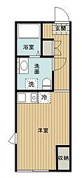 東武東上線 中板橋駅 徒歩7分の賃貸マンション 3階ワンルームの間取り