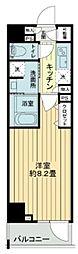 東京メトロ日比谷線 中目黒駅 徒歩7分の賃貸マンション 3階1Kの間取り