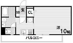 ウィスティリアコート神戸II[5階]の間取り