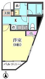 仮)大森西2丁目計画 4階1Kの間取り