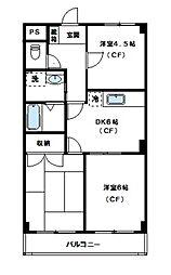 ロイヤルタウン下九沢[2階]の間取り