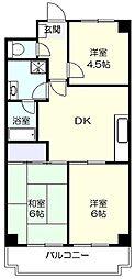 コスモたまプラーザ[2階]の間取り