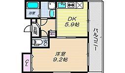 リバーライズ本町[7階]の間取り