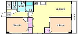 レオハイム津田2[4階]の間取り