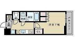 アルティザ淡路駅東 7階1Kの間取り