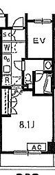 東急池上線 池上駅 徒歩7分の賃貸マンション 3階1Kの間取り