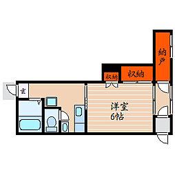 滋賀県彦根市城町2丁目の賃貸アパートの間取り