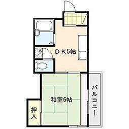 三共ビル[5階]の間取り